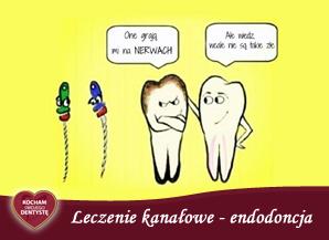<span>K – jak KANAŁOWE LECZENIE</span> = endodoncja
